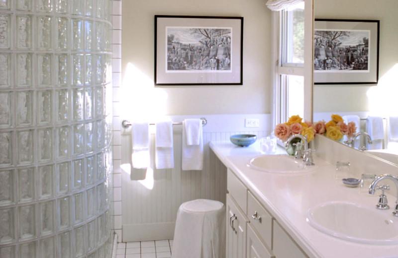 Suite bathroom at Meadowood Napa Valley.