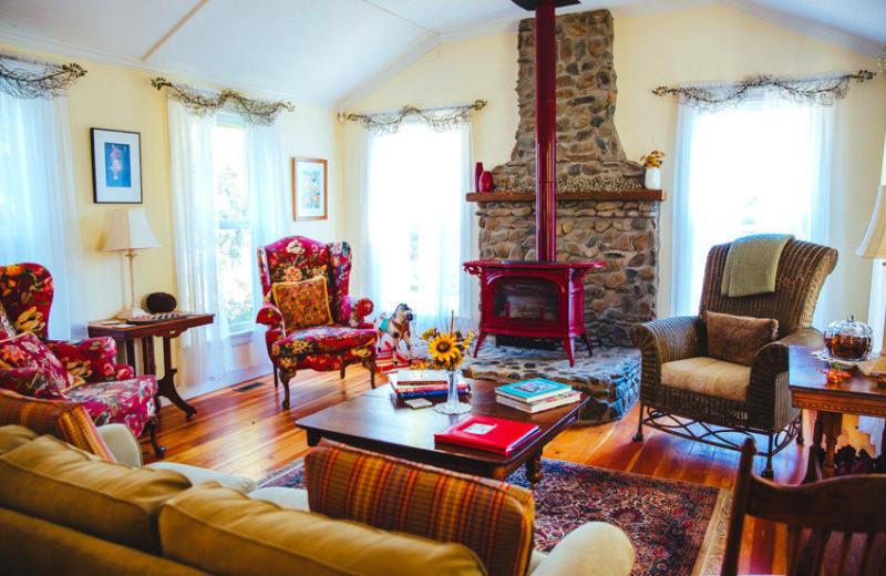 Living room at Flower Farm Inn B & B.