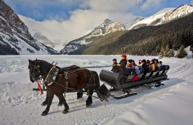 Horse sleigh ride at Mountaineer Lodge.
