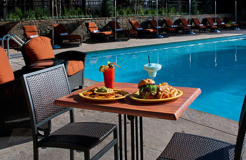 Poolside dining at The Lodge At Vail.