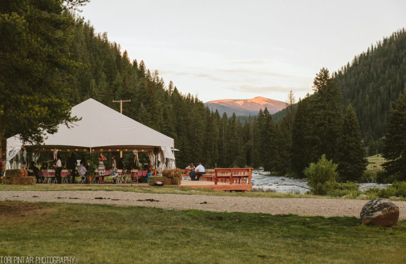 Wedding reception at 320 Guest Ranch.
