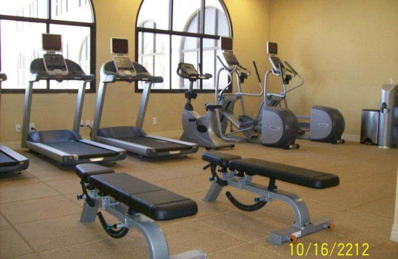 Fitness room at Hotel Encanto.