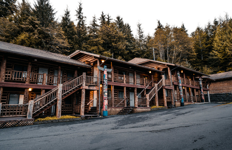 Location of the guestrooms at Salmon Falls Resort.