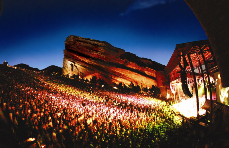 Red Rock Amphitheater near Colorado Bear Creek Cabins.