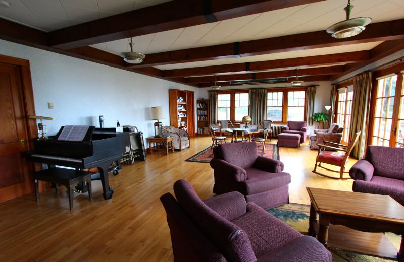 Interior view Cascade Lodge.