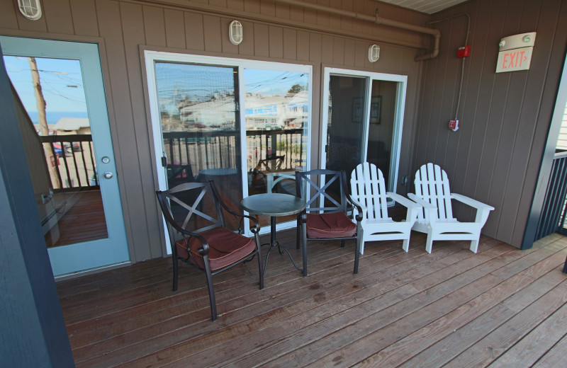Porch view at Sands by the Sea.