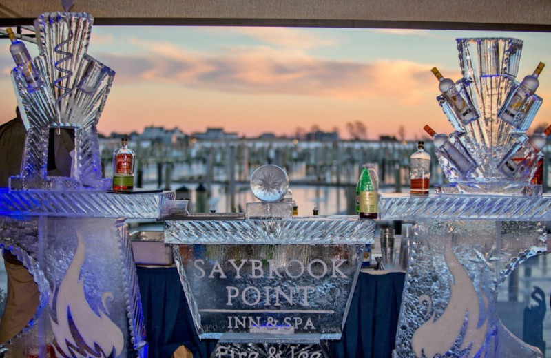 Ice carving at Saybrook Point Inn & Spa.