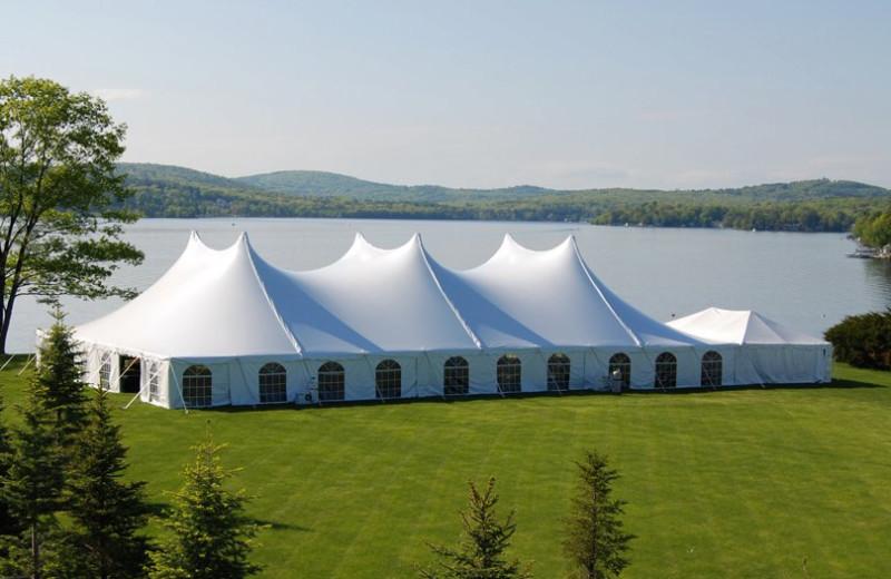 Wedding tent at The Margate on Winnipesaukee.
