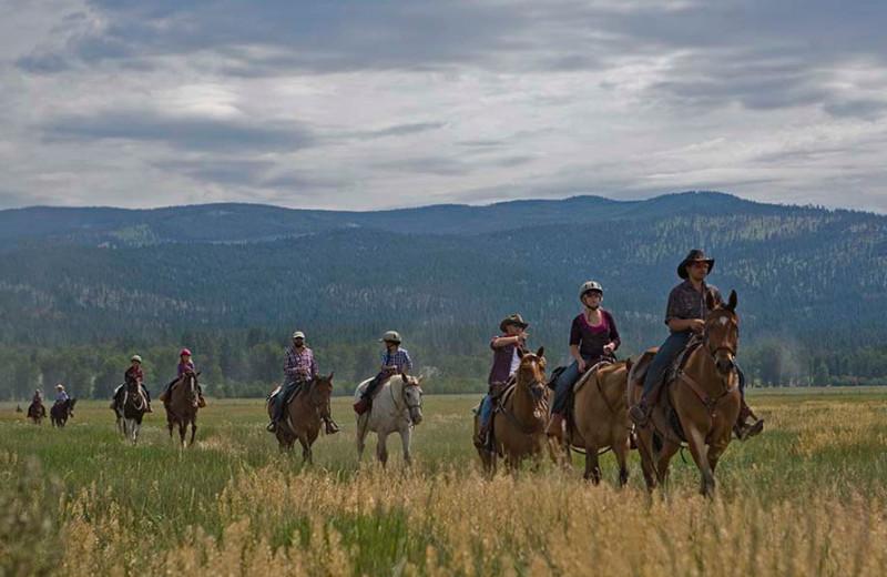 Horseback riding at The Resort at Paws Up.
