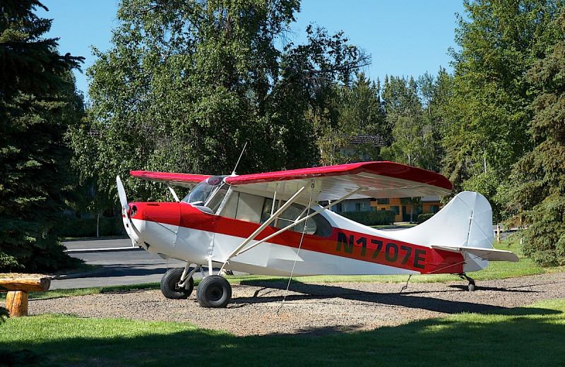 Small plane at Wedgewood Resort.