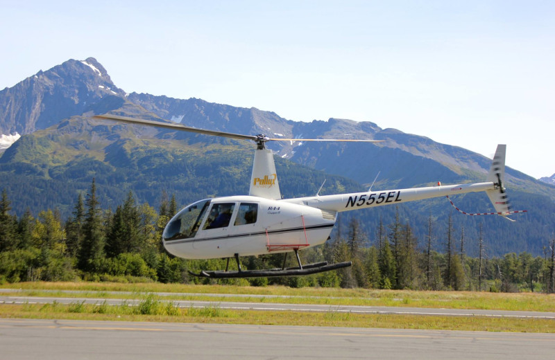 Helicopter ride at Soldotna B&B Lodge and Alaska Fishing Charters.