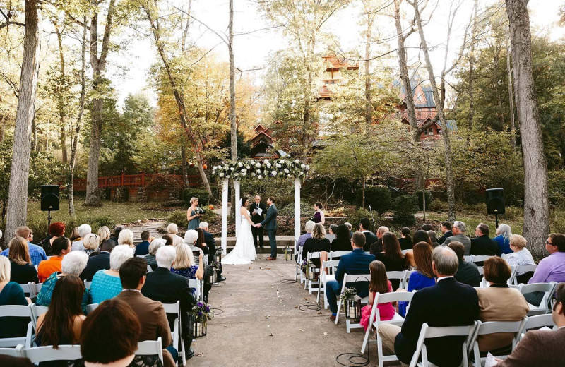 Wedding at Landoll's Mohican Castle.