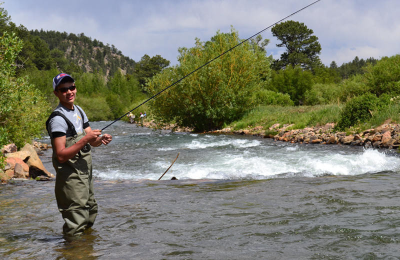 Fishing at Tumbling River Ranch.