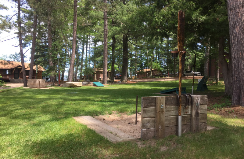 Horseshoes at Cabin O'Pines Resort & Campground.