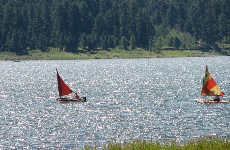 Sailing at Lone Wolf Cabins and Getaway.