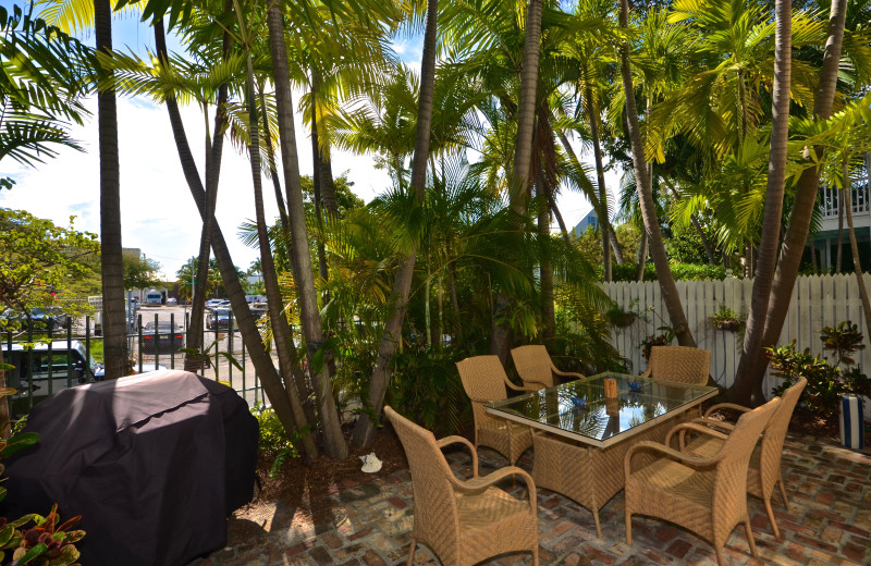 Rental patio at Key West Vacation Rentals.