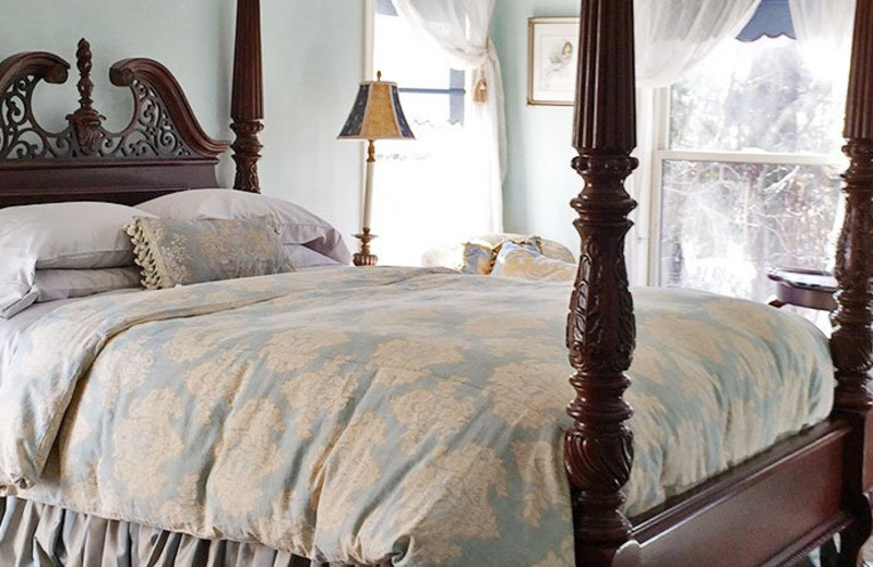 Guest room at The Madison House Bed & Breakfast.
