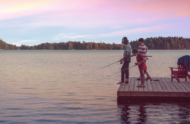 Fishing at Severn Lodge.