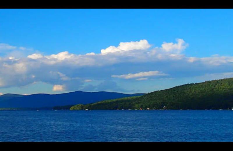 View of lake at The Georgian Lakeside Resort.