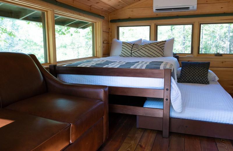 Cabin interior at Yogi Bear's Camp Golden Valley.