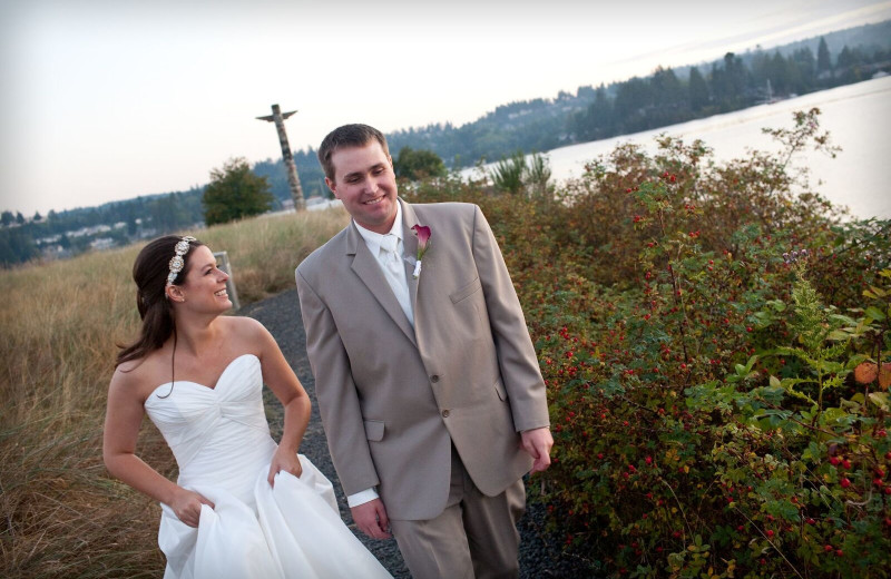 Wedding couple at The Resort At Port Ludlow.