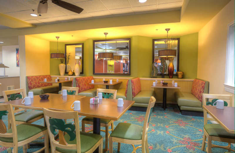 Palm dining room at Rosen Inn.