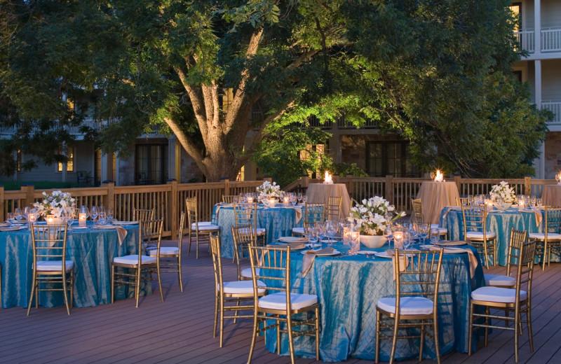 Wedding reception at Hyatt Regency Lost Pines Resort and Spa.