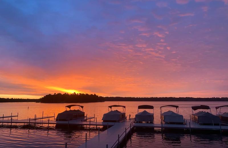 Sunset at Madden's on Gull Lake.