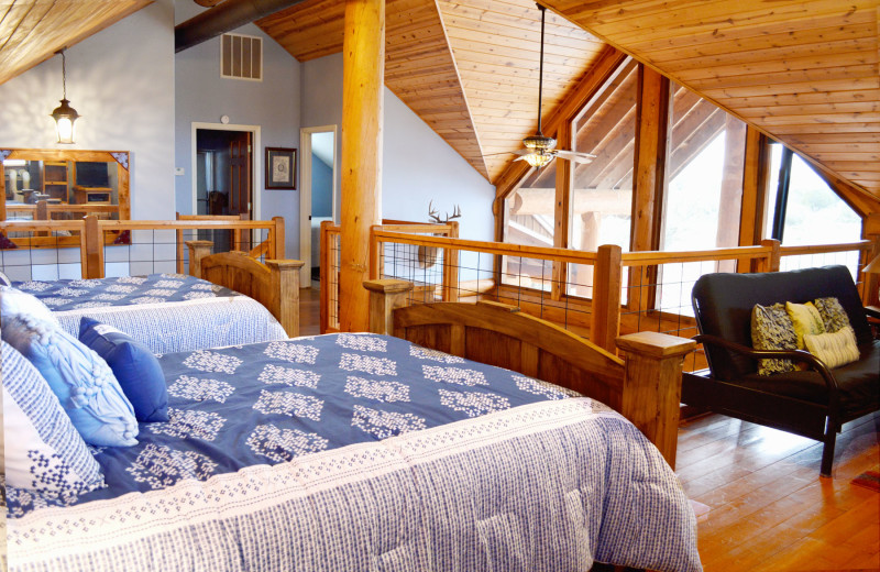 Cabin loft at Log Country Cove.