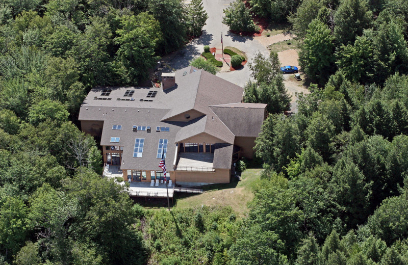 Aerial View of the Amenities Building at the Summit Resort.