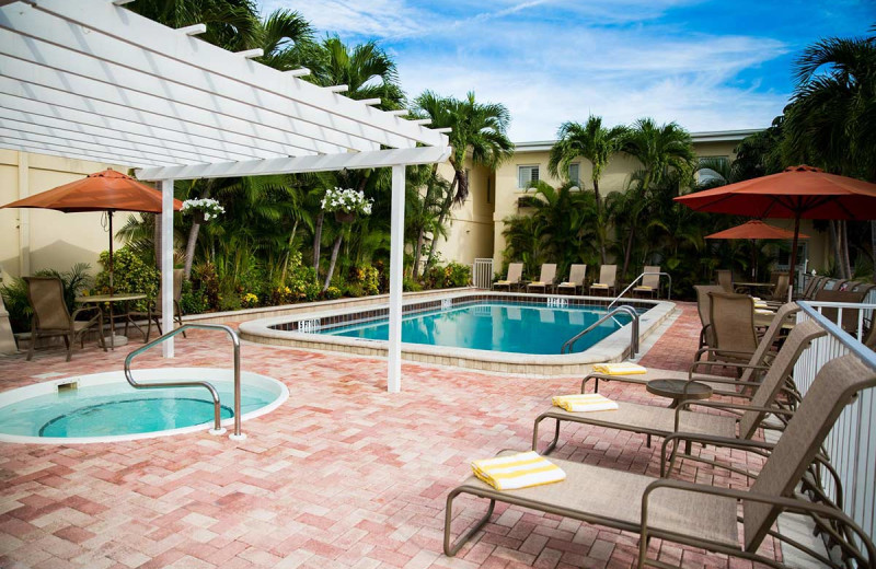 Outdoor pool at Inn At The Beach Resort.
