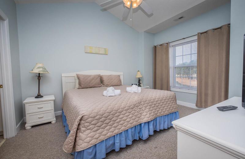 Guest room at Myrtlewood Villas.