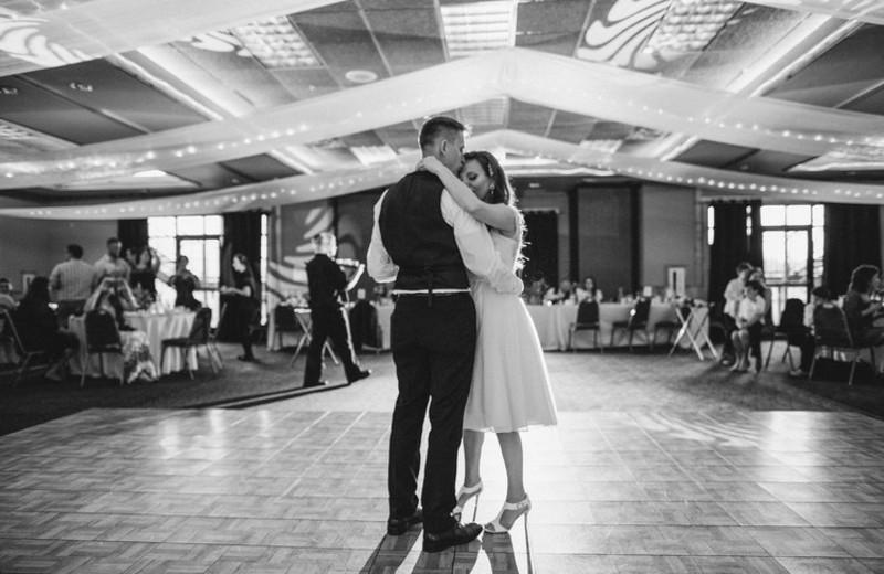 Wedding dance at Superior Shores Resort.