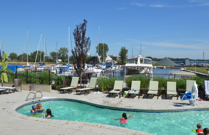 Outdoor pool at The Inn at Harbor Shores.