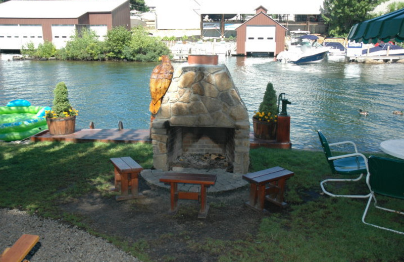 Fire Pit at Channel Waterfront Cottages