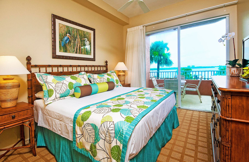 Guest room at Lover's Key Beach Club & Resort.