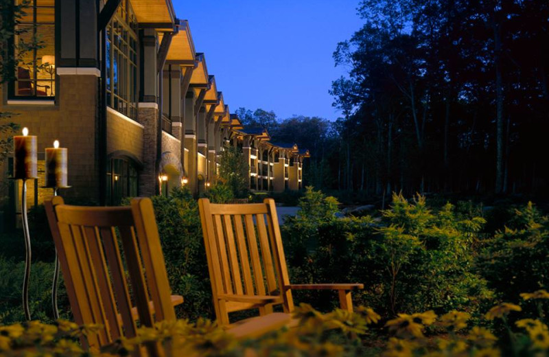 Exterior of The Lodge at Woodloch.