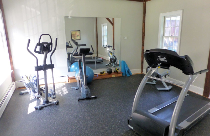 Fitness room at Four Columns Inn.