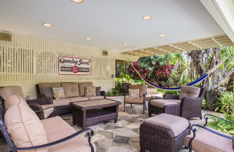 Rental patio at Hawaiian Vacation Rentals.