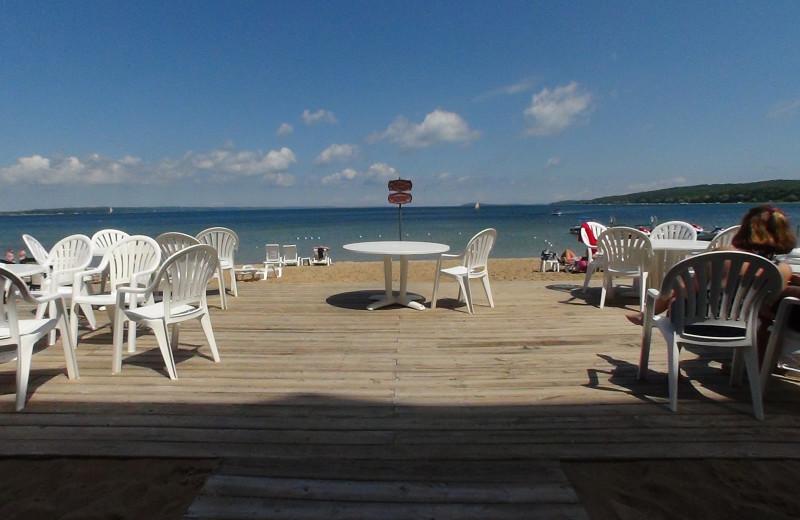 Patio view at Bayshore Resort.