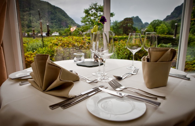 Dining at Borrowdale Gates Country House Hotel.