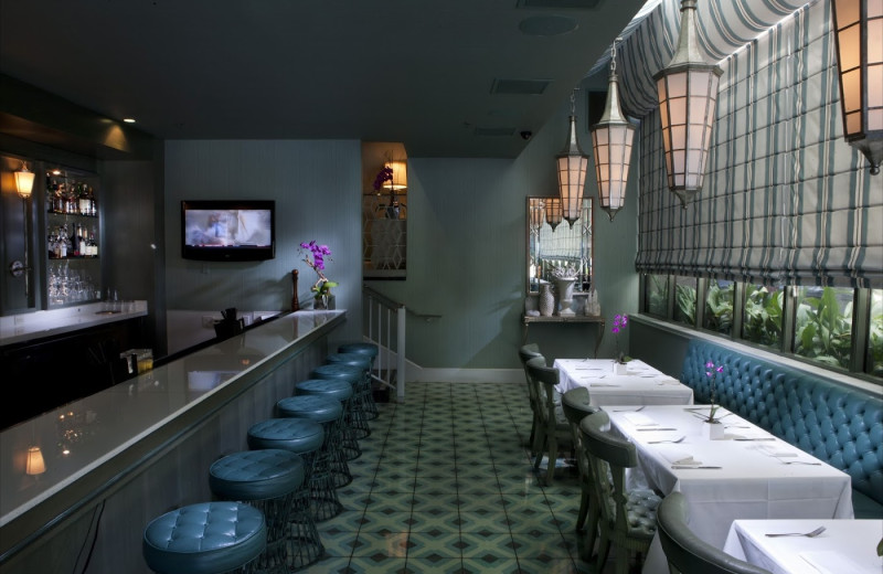 Dining at Chamberlain West Hollywood Hotel.
