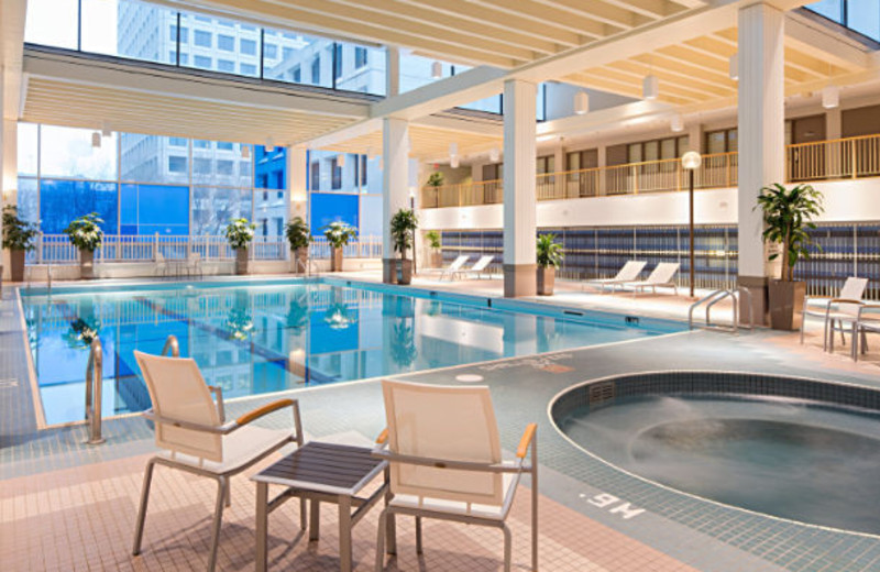 Indoor pool at Delta Winnipeg.