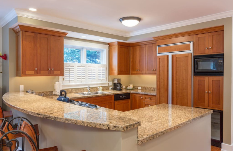 Rental kitchen at Welcome to Telluride Vacation Rentals.