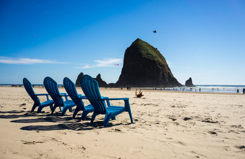 Beach at Hallmark Resort & Spa Cannon Beach.