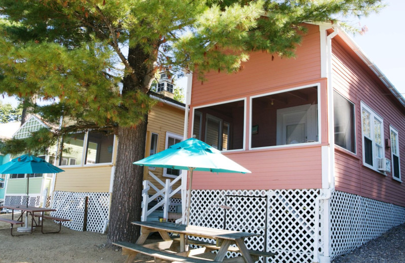 Cottage exterior at Naswa Resort.