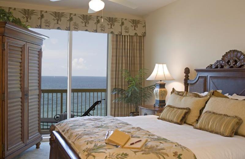 Guest room at Calypso Resort & Spa.