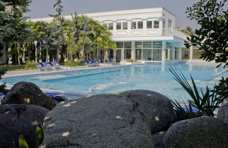 Outdoor pool at Hotel Terme Metropole.