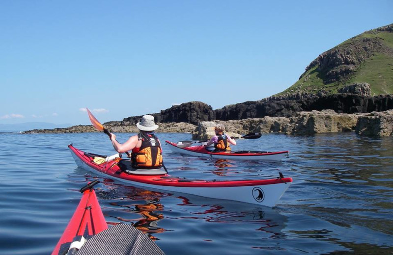 Kayaking at Glen Uig Inn.