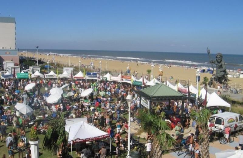 Beach festival at Gold Key Resorts.